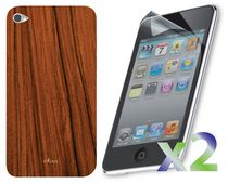 Exian Case for IPod Touch 4 - Wood