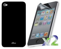 Exian Case for iPod Touch 4  - Plain Black