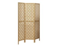 Monarch Specialties Gold Frame 3 Panel Lantern Design Folding Screen