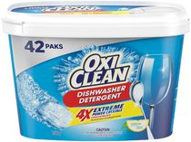 OxiClean Extreme Power Crystals Lemon Clean Dishwasher Detergent Packs