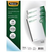 Fellowes Transparent PVC Covers - Oversize, 100 Pack