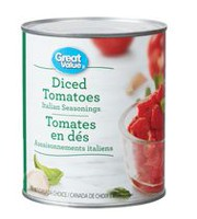Tomates en dés assaisonnements italiens de Great Value