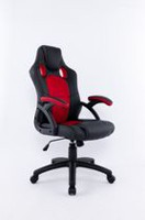 Brassex Black & Red Office Chair - 9157 RD / BLK