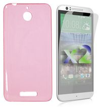 Exian Transparent Case for Desire 510 - Pink