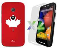 Exian Case for Moto E - Maple Leaf Design