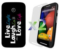 Exian Case for Moto E - Live Laugh Love