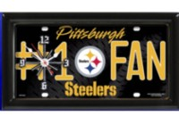 Horloge murale des Steelers LNF Pittsburgh de Logo Chair