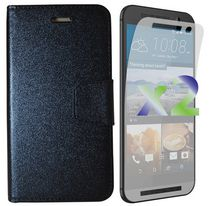 Exian Wallet Case for HTC One M9 - Black