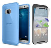 Exian Transparent Case for HTC One M9 - Blue