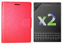 Exian Wallet Case for Blackberry Passport - Red