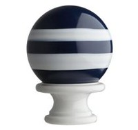 Mainstays Kids Blue Stripe Ball Drapery Rod Finial Set