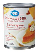 Great Value Vitamins C & D added Evaporated Milk