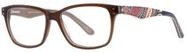 AV Studio Women's AV72S Brown Eyeglass Frame