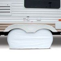 "Classic Accessories RV Dual Axle Wheel Cover, Fits Up to 27"" wheel diameter (58""L x 7""W x 27""H)."