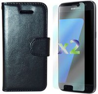 Exian Wallet Case for Galaxy S7 in Black