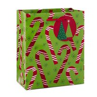 Hallmark Image Arts Candy Canes Small Christmas Gift Bag
