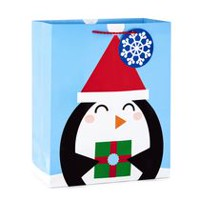 "Hallmark Image Arts 13"" Penguin Large Christmas Gift Bag"