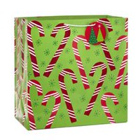 Hallmark Image Arts Candy Canes X-Deep Christmas Gift Bag