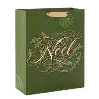 "Hallmark Image Arts 15.5"" Noel With Glitter & Metallic Foil X-Large Christmas Gift Bag"