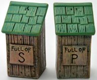 River's Edge Out House Salt and Pepper Shaker Set