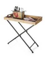 hometrends Wood and Metal Tray Table
