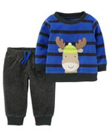 Child of Mine made by Carter's Newborn Boys 2pc clothing set- Moose 24 months