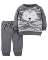 Child of Mine made by Carter's Newborn Boys 2pc clothing set- Fox 18 months
