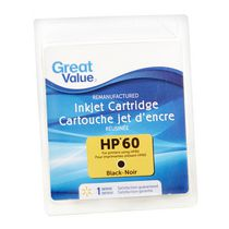 Great Value Inkjet Cartridge HP60 Black