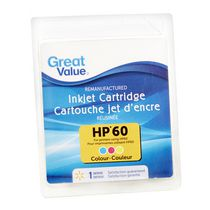 Great Value Inkjet Cartridge HP60 Colour