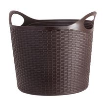 Mainstays Oval Flex Wicker Laundry Basket