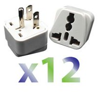 Exian Travel Adapter Universal to North America - Pack of 12