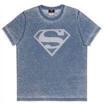 Superman Men's Burntout Short Sleeve T-Shirt Small