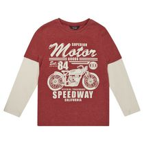 George British Design Boys Red Motor Goods Long Sleeve T Shirt 8