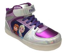 Frozen Big Girls' Lighted High Top Athletic Shoe 9