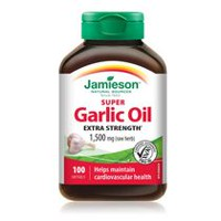 Jamieson Super Garlic Oil Softgels, 1,500 mg