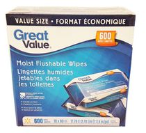 Great Value Moist Flushable Wipes