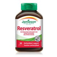 Jamieson Natural Source Age Control Resveratrol Red Wine Extract with Grape Seed Capsules