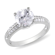 Miabella 3.80 Carat T.G.W. Cubic Zirconia Sterling Silver Engagement Ring 8
