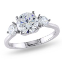 Miabella 4.33 Carat T.G.W. Cubic Zirconia Sterling Silver Three-Stone Engagement Ring 9