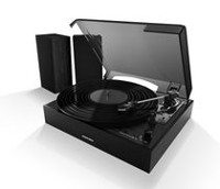 Sharper Image SBT4003 Bluetooth Turntable With Satellite Speakers