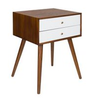hometrends Vintage 2-Drawer Side Table