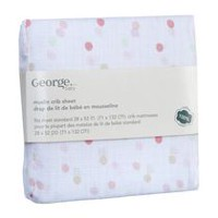 George baby Muslin Crib Sheet