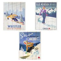 Assortiment d'art de ski Canadiana Art