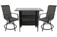 hometrends Charleston 3-Piece High Dining Bar Set