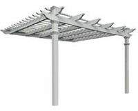 New England Arbors Freemont Attached Pergola