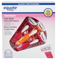 equate Women's Triple Blade Disposable Razors Value Pack