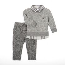 George Baby Boys' Fooler Shirt Crew Neck Long Sleeved Sweater and Jogger Set 18-24 months