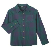 George Boys' Long Sleeved Flannel Shirt Green 6X