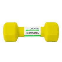 GoZone 5LB Neoprene Hex Dumbbell, Lime
