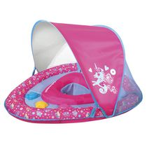SwimSchool Grow-With-Me Babyboat with Canopy and 3 Toys - Seahorse